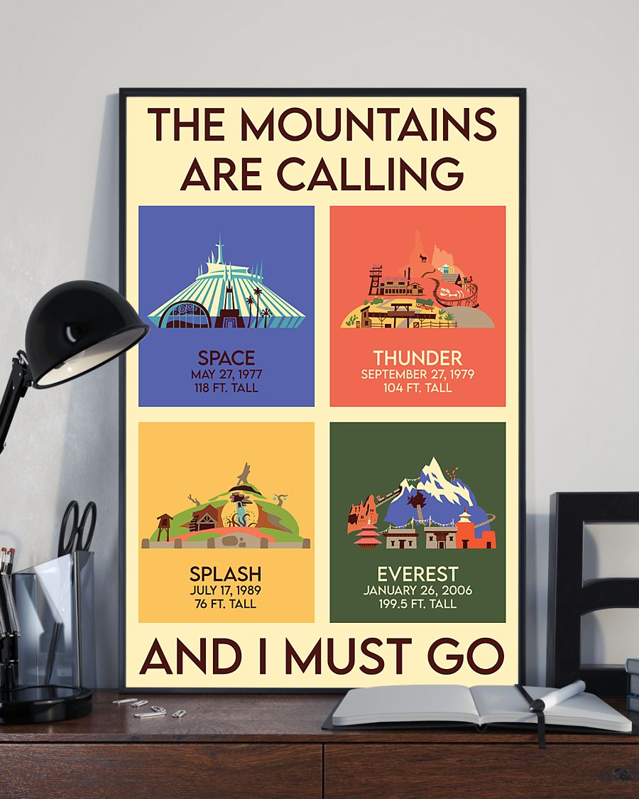 the mountains are calling and i must go vintage poster 3