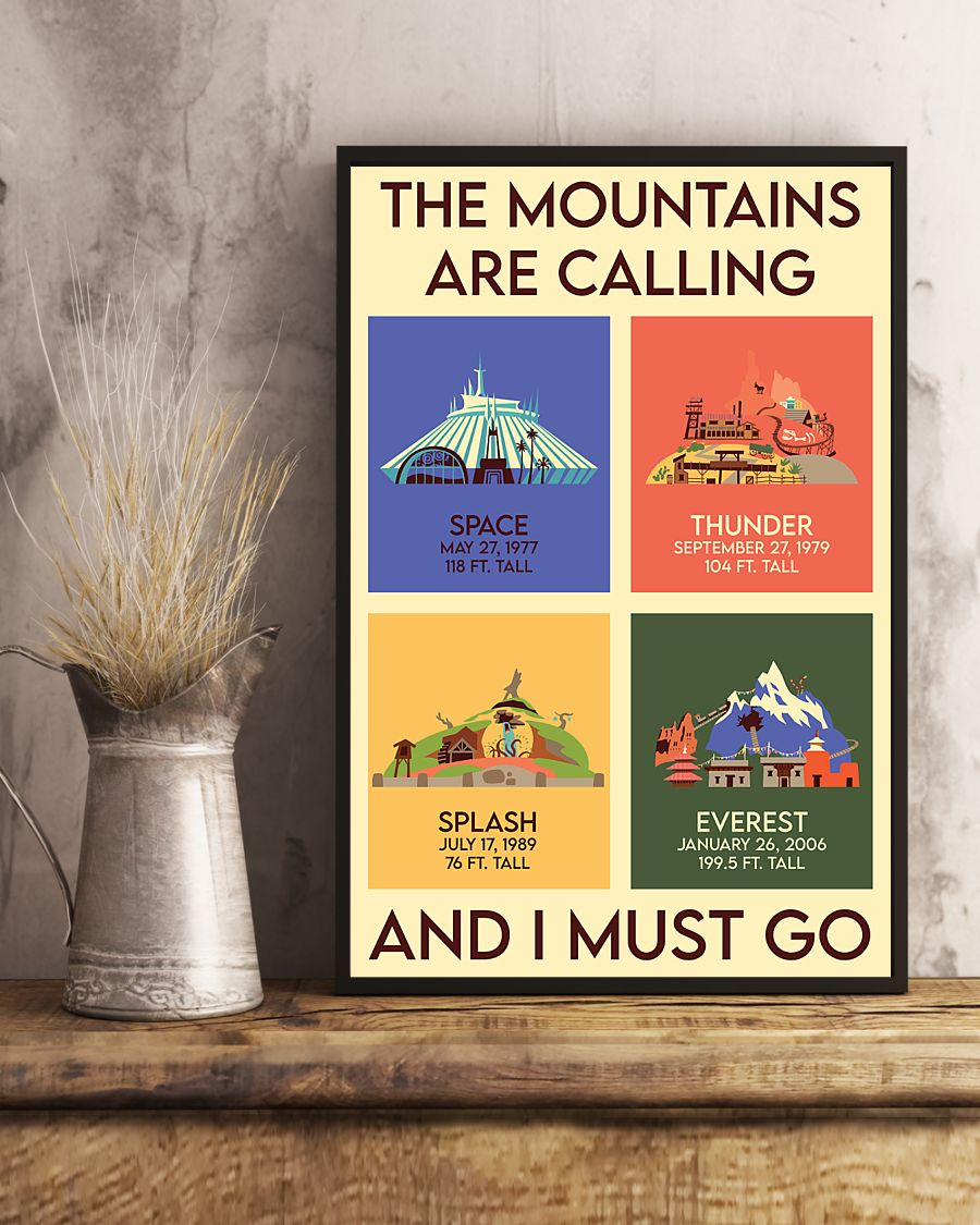 the mountains are calling and i must go vintage poster 4