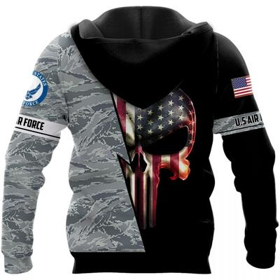 the united state air force skull american flag camo full over printed shirt 3