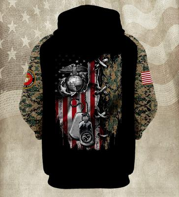 the united states marine corps american flag camo full over printed hoodie