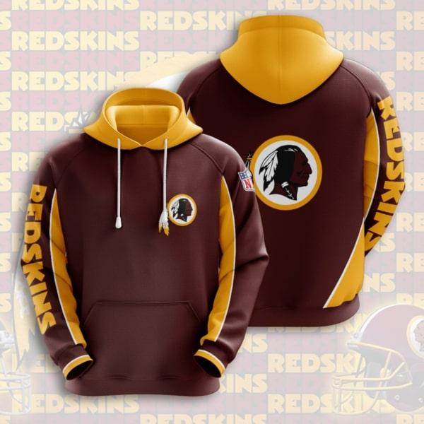 the washington redskins football team full printing hoodie