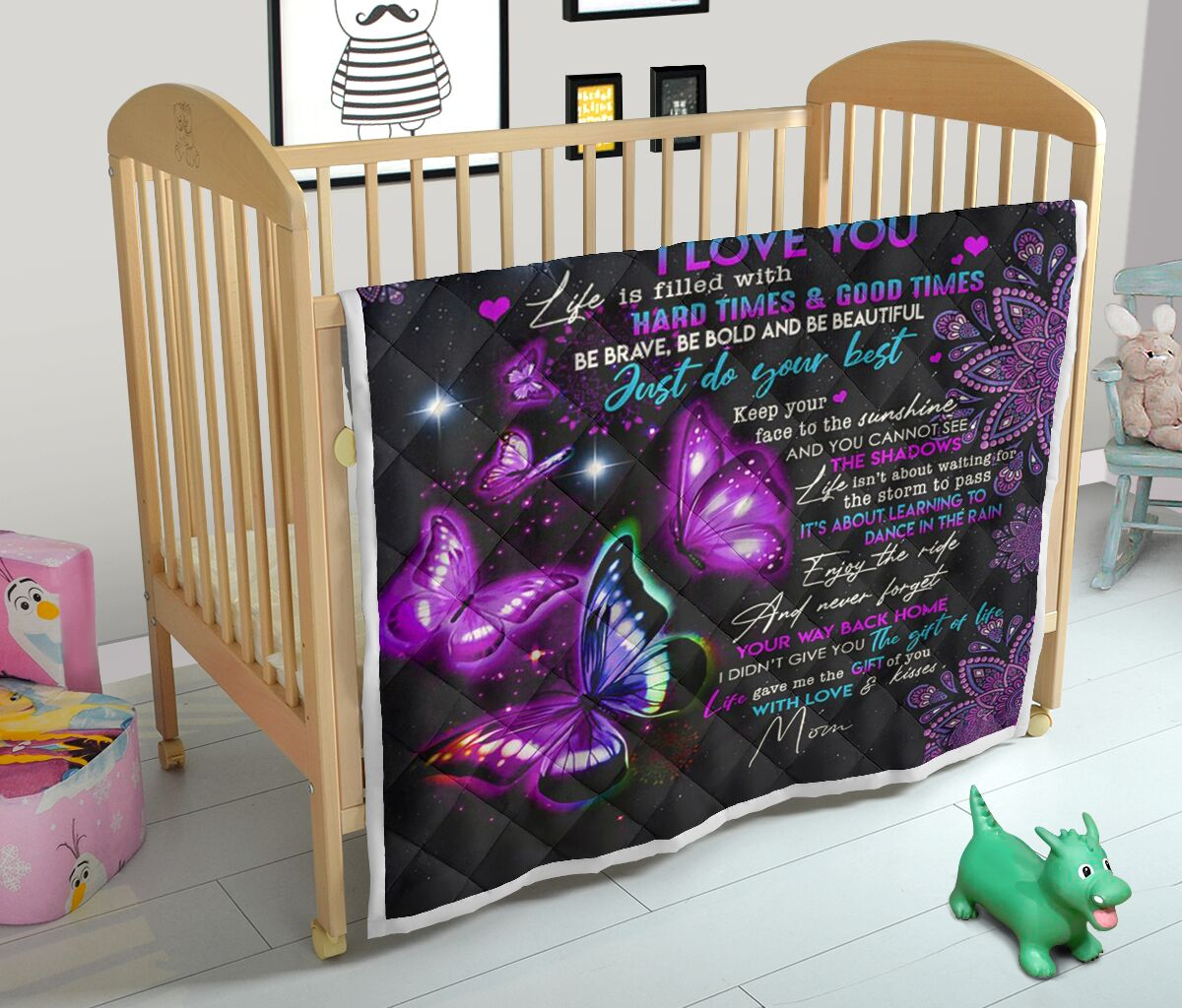 to my daughter never forget that i love you night butterfly quilt 2