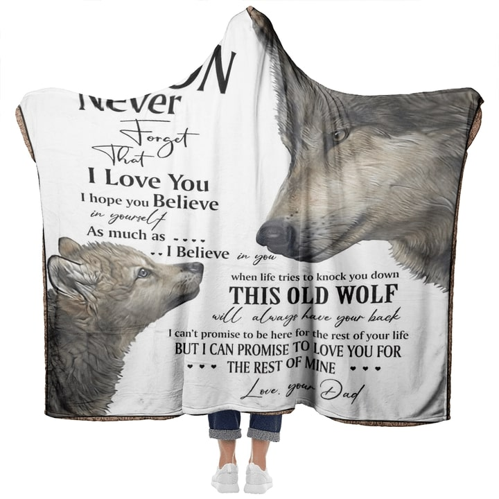 to my son never forget that i love you wolf quilt 5