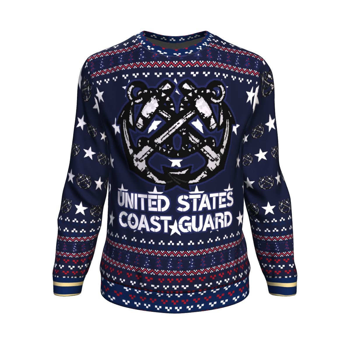 united states coast guard all over printed ugly christmas sweater 2