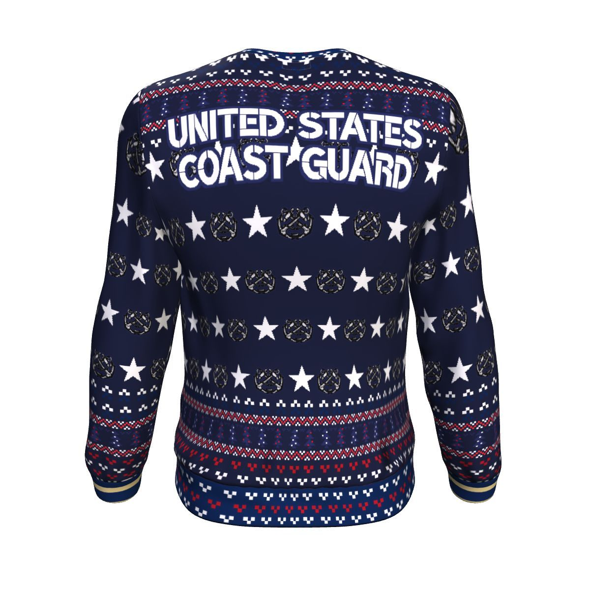 united states coast guard all over printed ugly christmas sweater 4