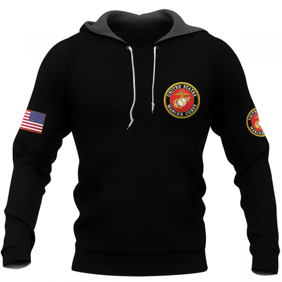 united states marine corps warrior molon labe full over printed hoodie
