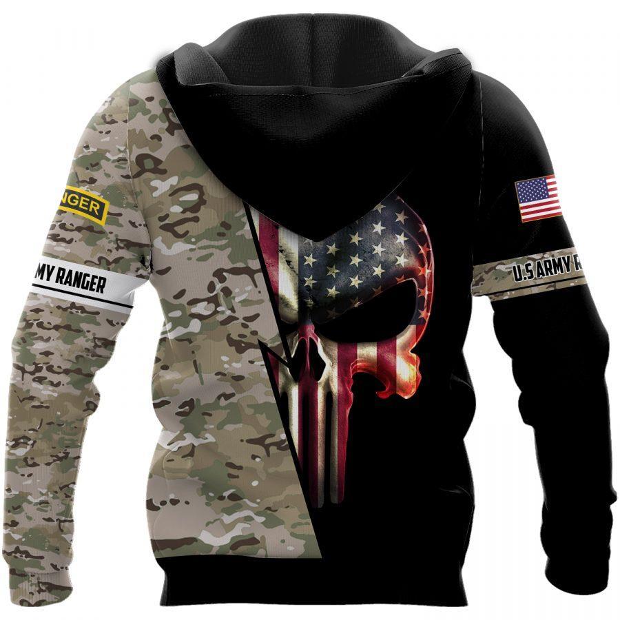 us army ranger skull american flag camo full over printed shirt 3
