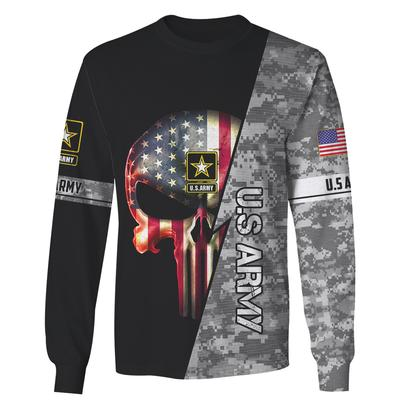us army skull american flag camo full over printed sweatshirt