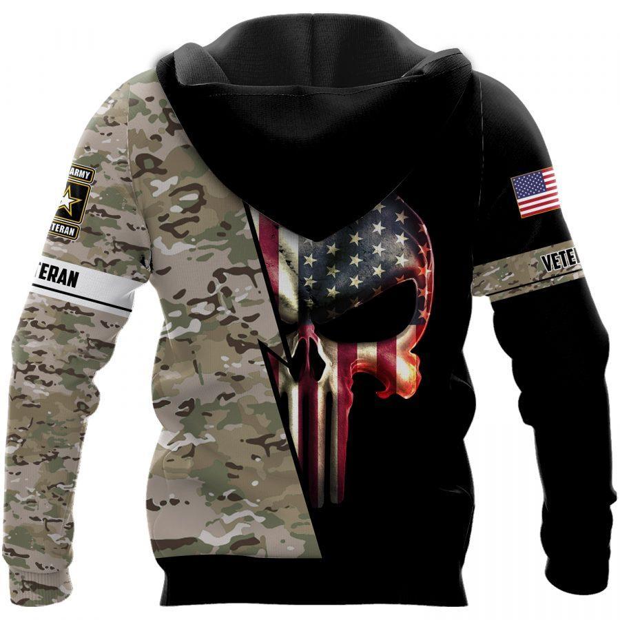 us army veteran skull american flag camo full over printed shirt 3