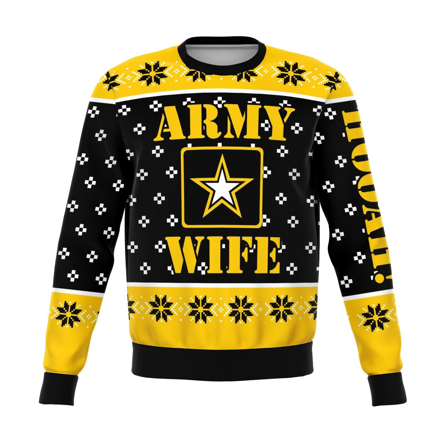 us army wife all over printed ugly christmas sweater 3