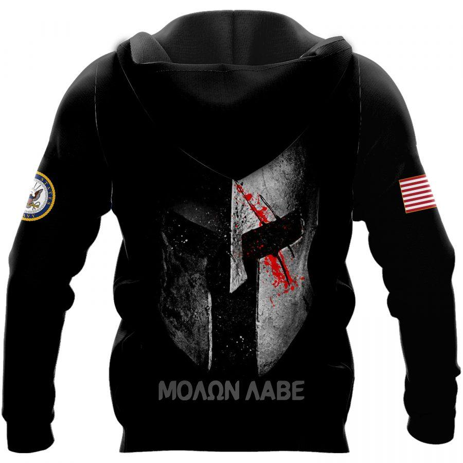 us navy warrior molon labe full over printed shirt 3
