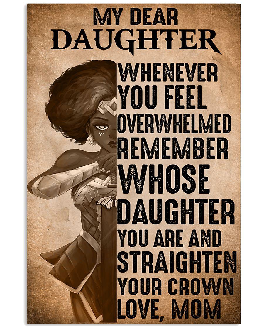 warrior girl my dear daughter whernever you feel overwhelmed vintage poster 1