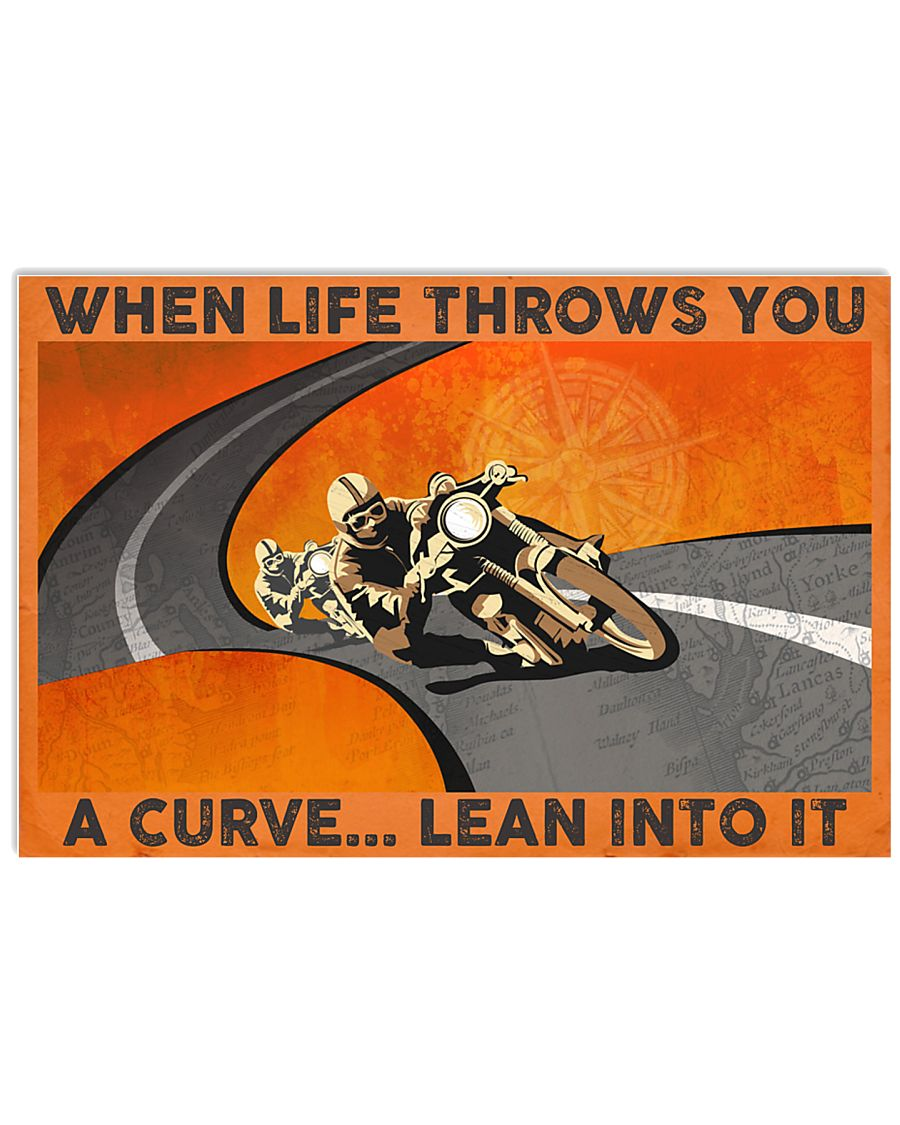 when life throws you a curve lean into it vintage poster 3