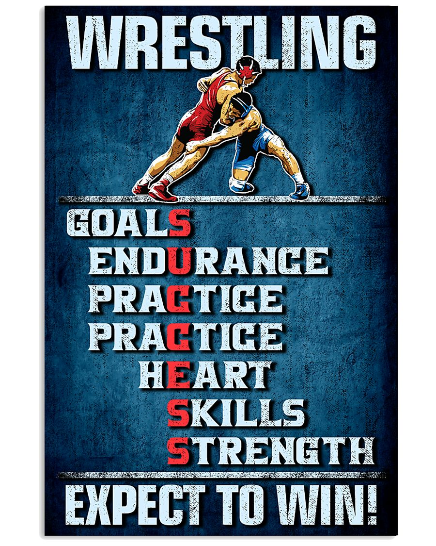 wrestling goals skills strength expect to win vintage poster 1
