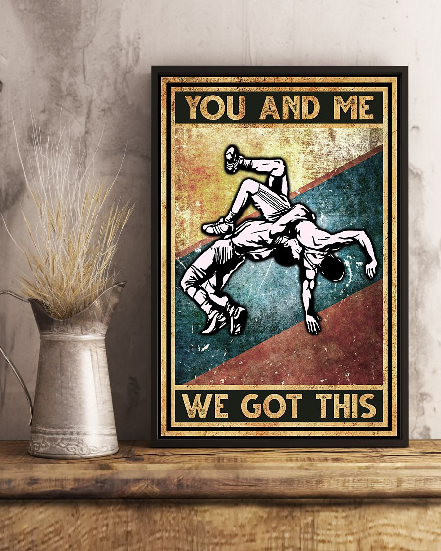 wrestling you and me we got this vintage poster 3