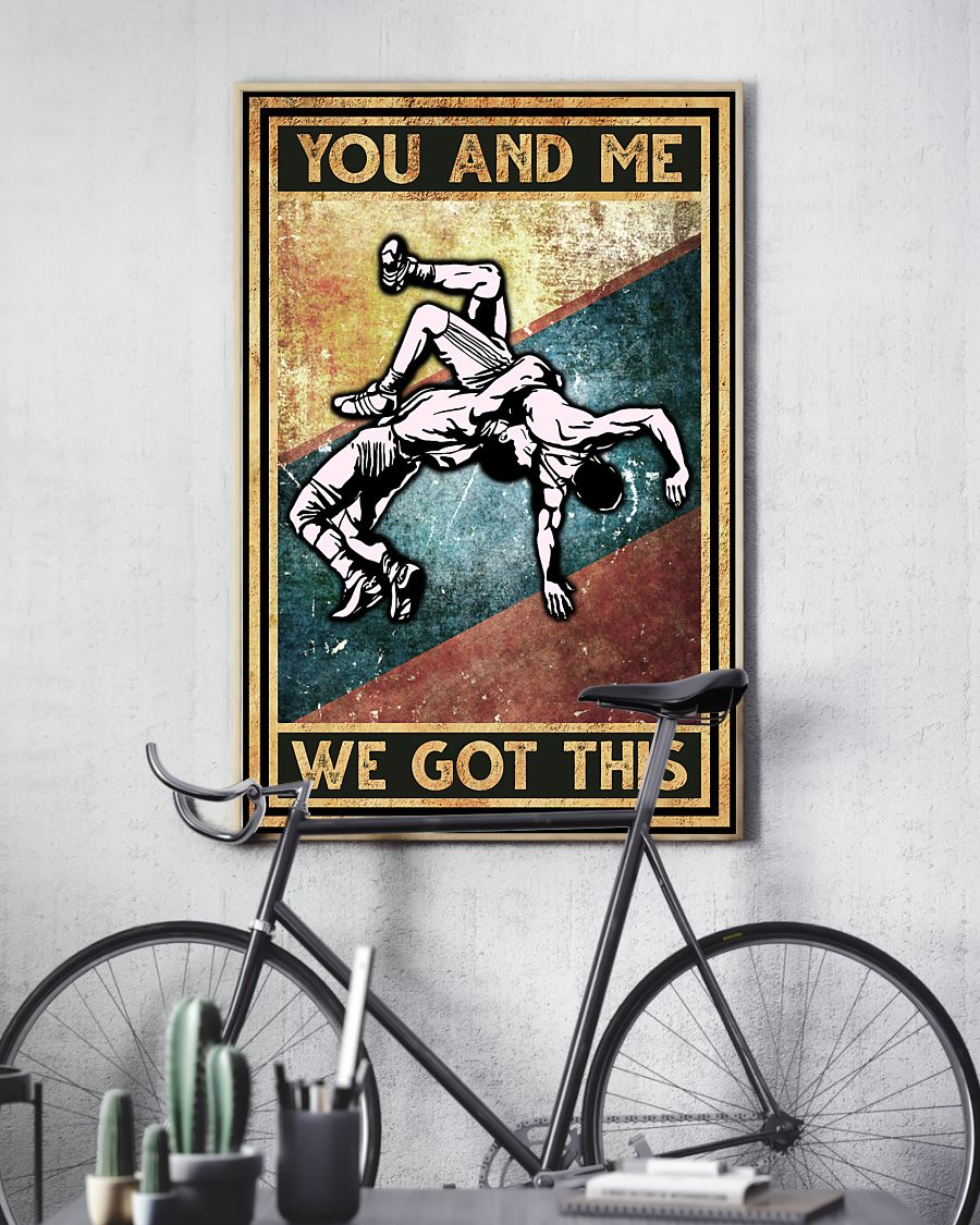 wrestling you and me we got this vintage poster 4