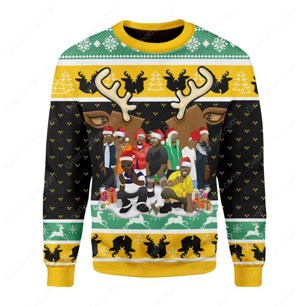 wu-tang clan all over printed ugly christmas sweater 3