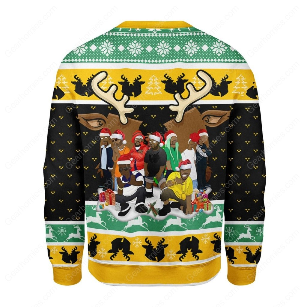 wu-tang clan all over printed ugly christmas sweater 5