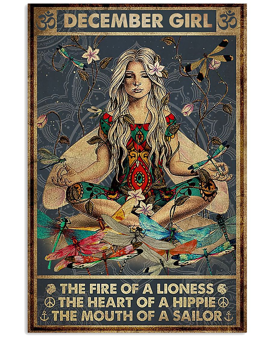 yoga december girl the fire of a lioness the heart of hippie poster poster 1