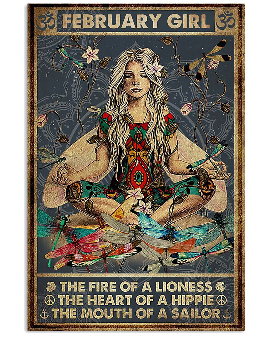 yoga february girl the fire of a lioness the heart of hippie poster 1