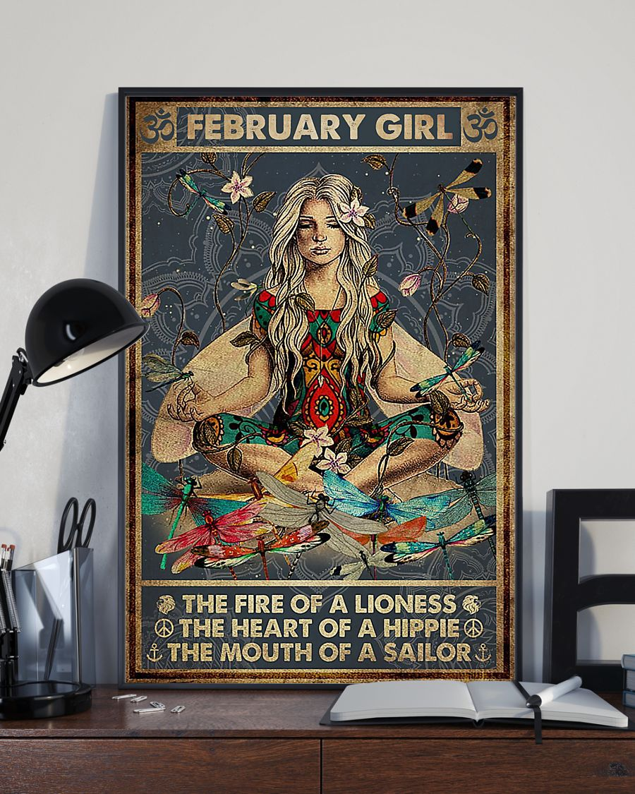 yoga february girl the fire of a lioness the heart of hippie poster 2
