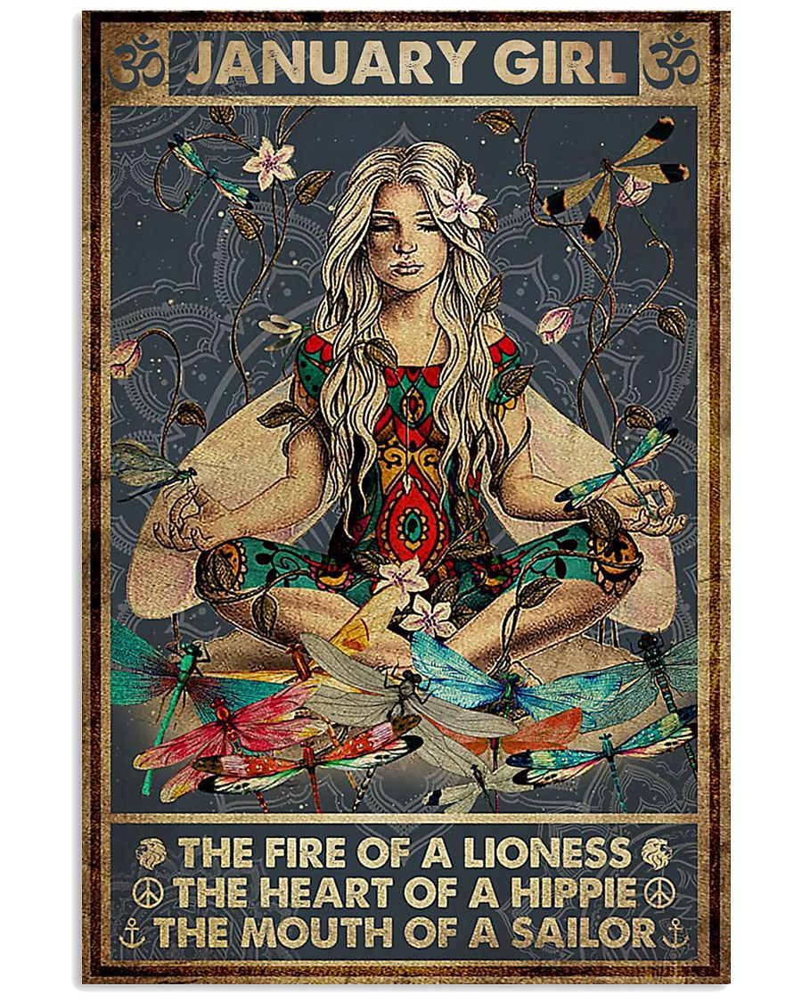 yoga january girl the fire of a lioness the heart of hippie poster 1
