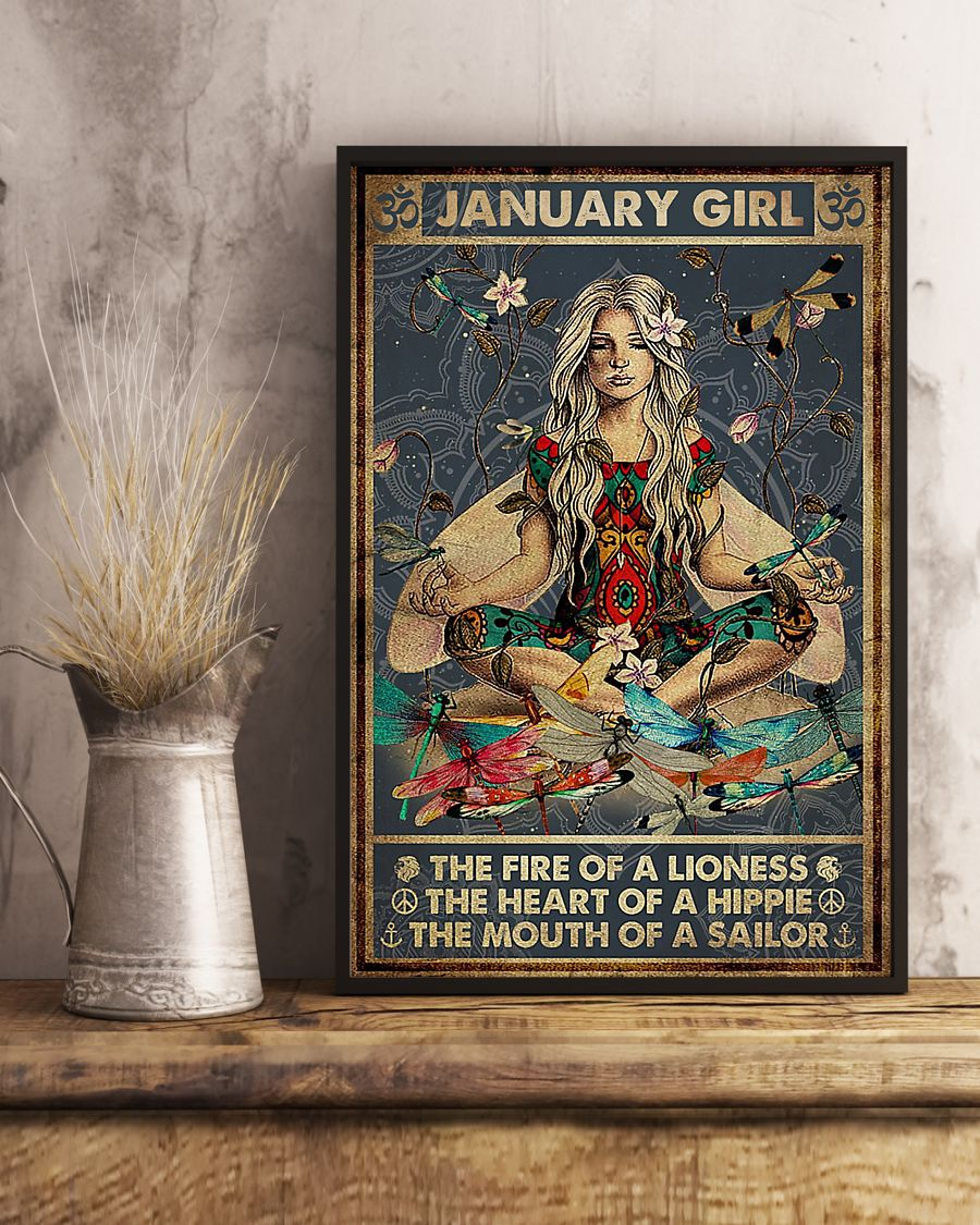 yoga january girl the fire of a lioness the heart of hippie poster 4