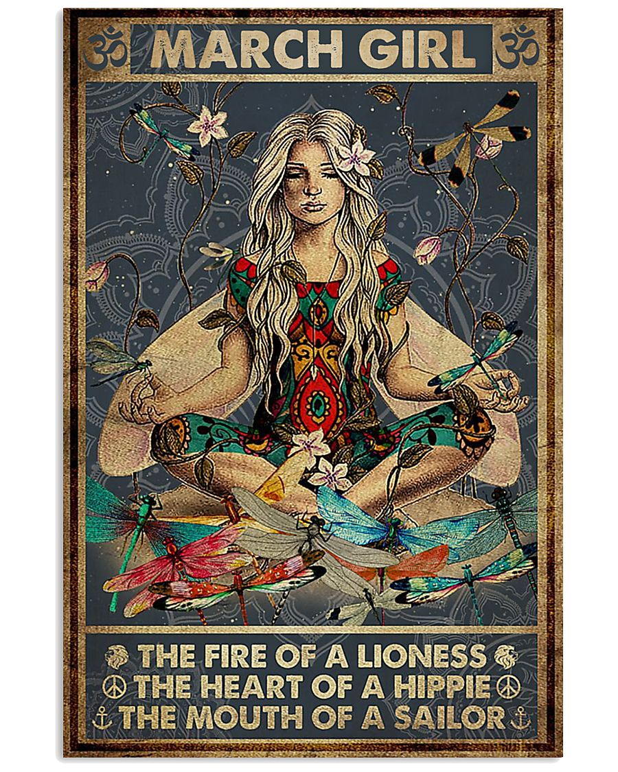 yoga march girl the fire of a lioness the heart of hippie poster 1