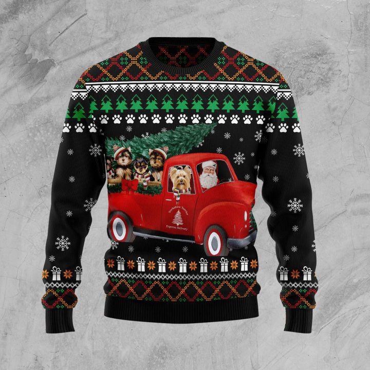 yorkshire terrier full printing christmas sweater 3