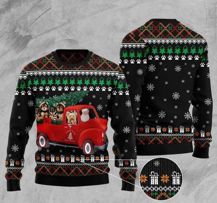 yorkshire terrier full printing christmas sweater 4
