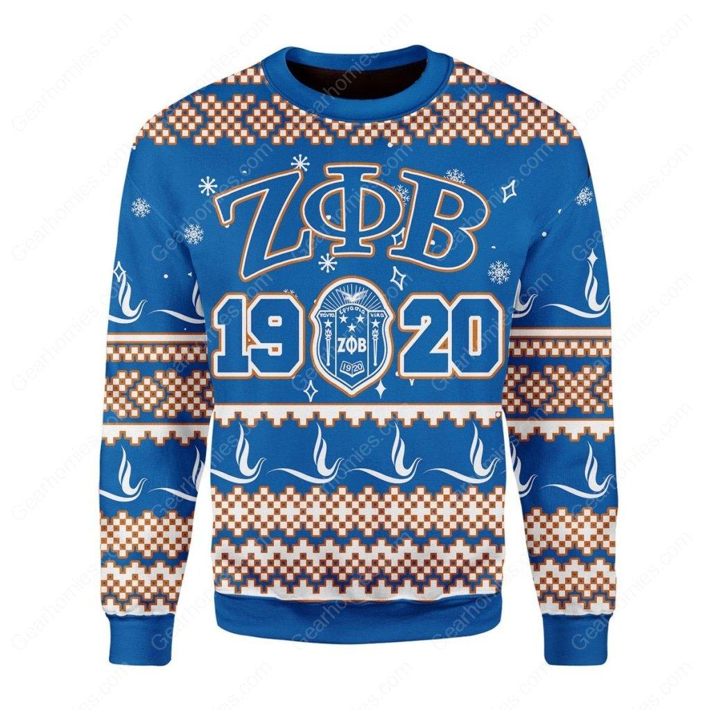 zeta phi beta 1920 all over printed ugly christmas sweater 3