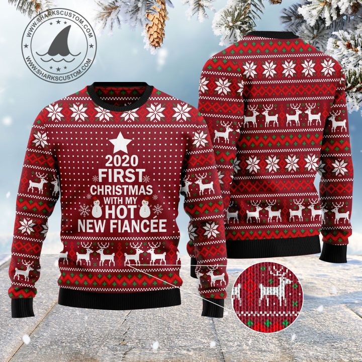 2020 first christmas with my hot new fiance ugly christmas sweater 5