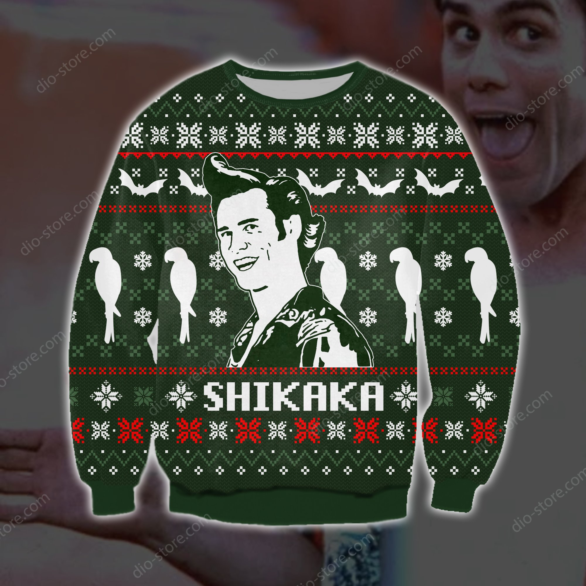 ace ventura shikaka all over printed ugly christmas sweater 2 - Copy (2)