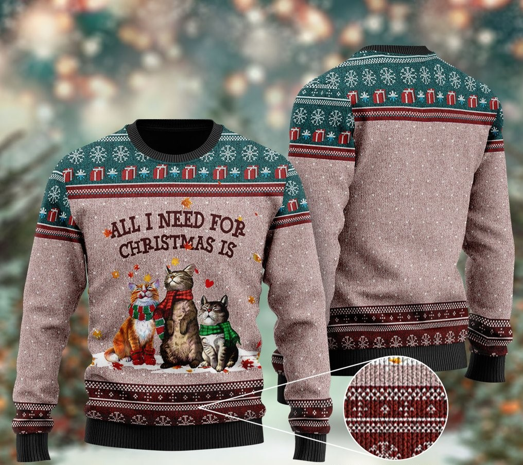 all i need for christmas is cat all over printed ugly christmas sweater 2 - Copy (2)