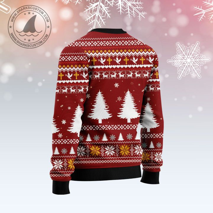 christmas begins with Christ all over printed ugly christmas sweater 5