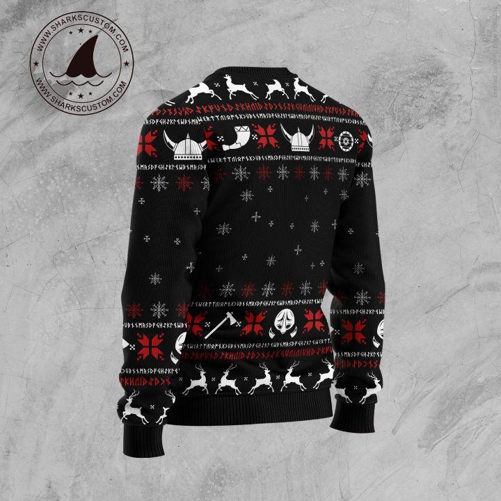 fa-la-la-la-la valhalla-la ugly christmas sweater 4