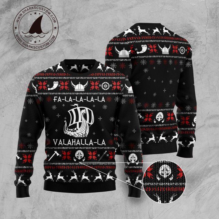 fa-la-la-la-la valhalla-la ugly christmas sweater 5