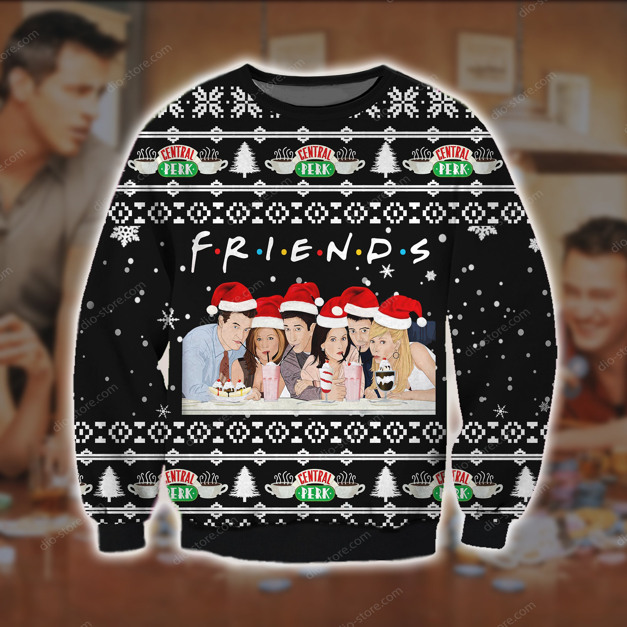 friend tv show all over printed ugly christmas sweater 2 - Copy
