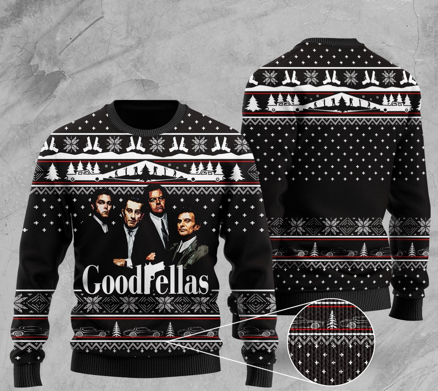 goodfellas all over printed ugly christmas sweater 2
