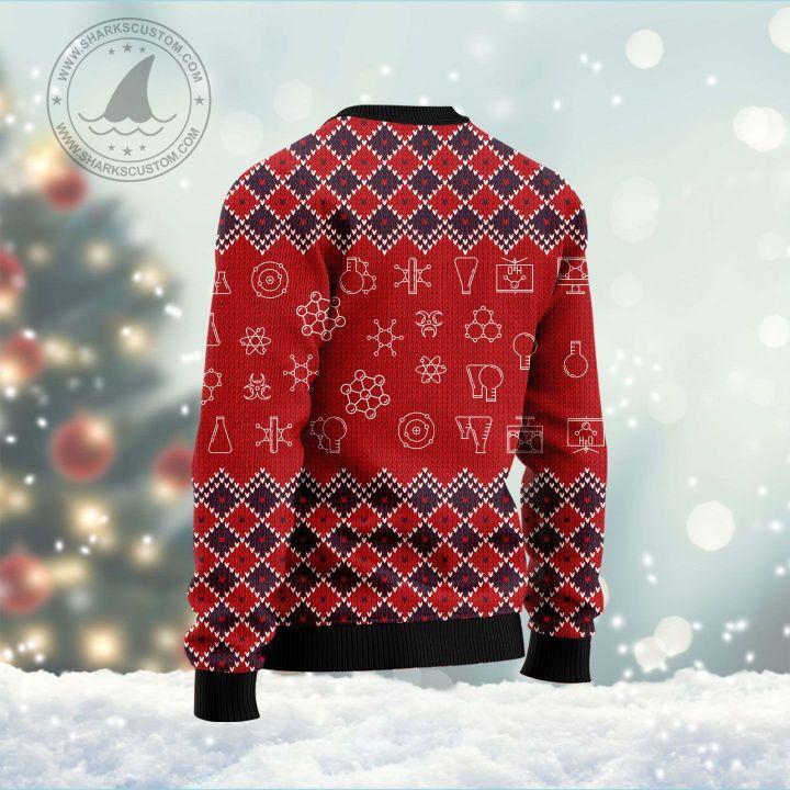 ho ho ho oh chemistree all over printed ugly christmas sweater 4