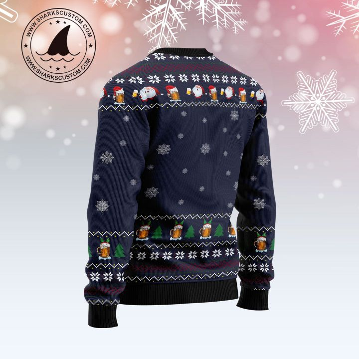 jingle beers jingle beers drinking all the way all over printed ugly christmas sweater 4