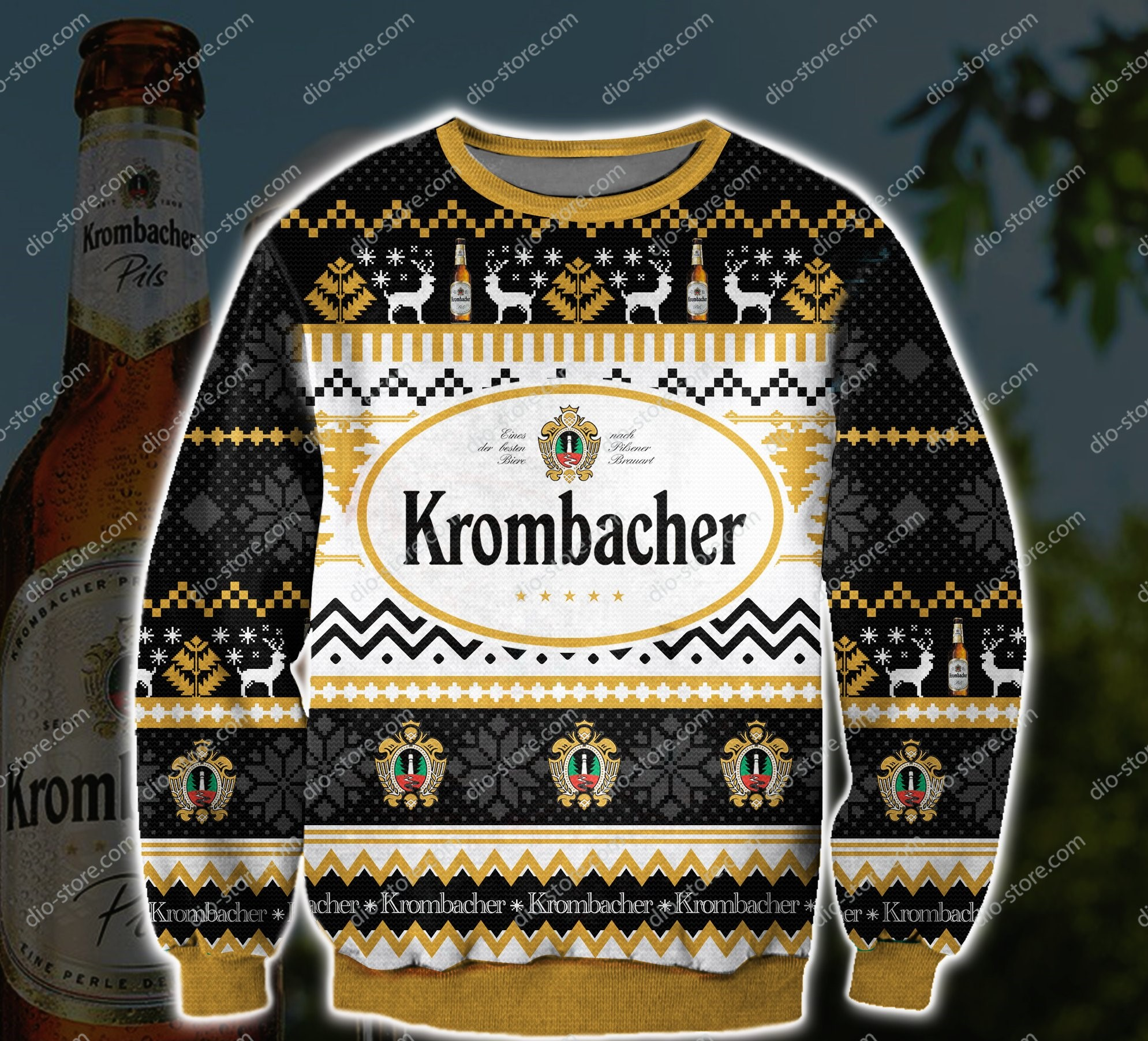 krombacher beer all over printed ugly christmas sweater 2 - Copy