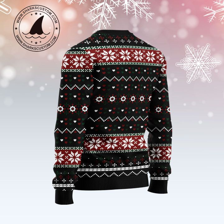 let it snow red truck all over printed ugly christmas sweater 4
