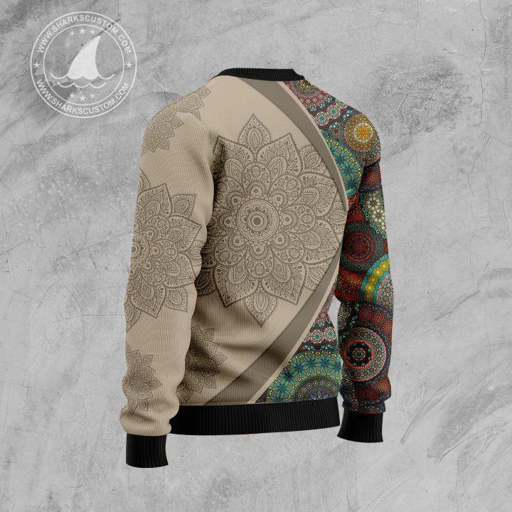 maine mandala all over printed ugly christmas sweater 4