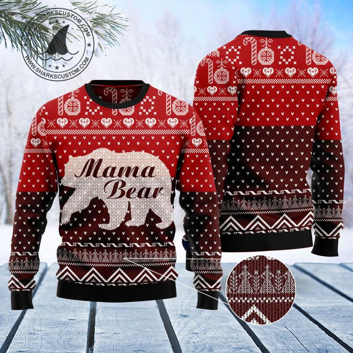 mama bear all over printed ugly christmas sweater 5