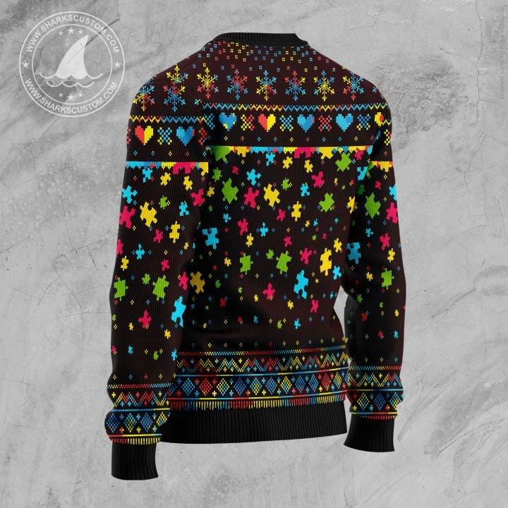 merry christmas autism awareness christmas tree all over printed ugly christmas sweater 4