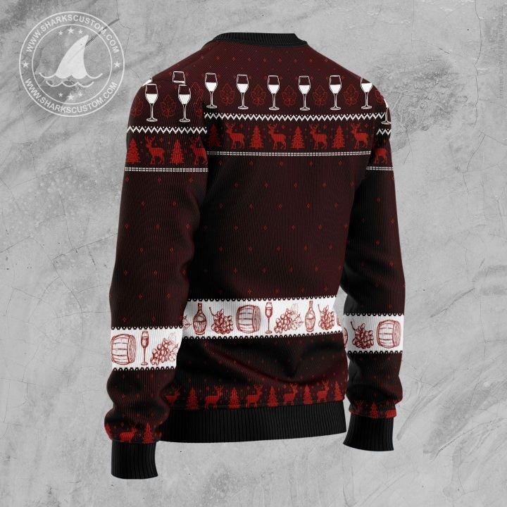 merry winemas christmas tree all over printed ugly christmas sweater 4