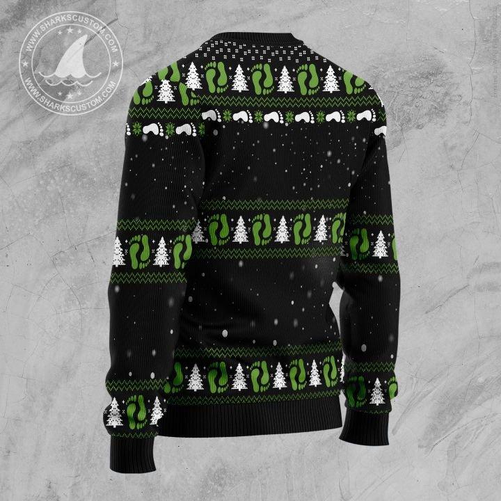 santa bigfoot santasquatch all over printed ugly christmas sweater 4