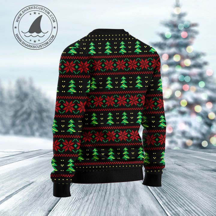santa claus merry dartsmas all over printed ugly christmas sweater 4