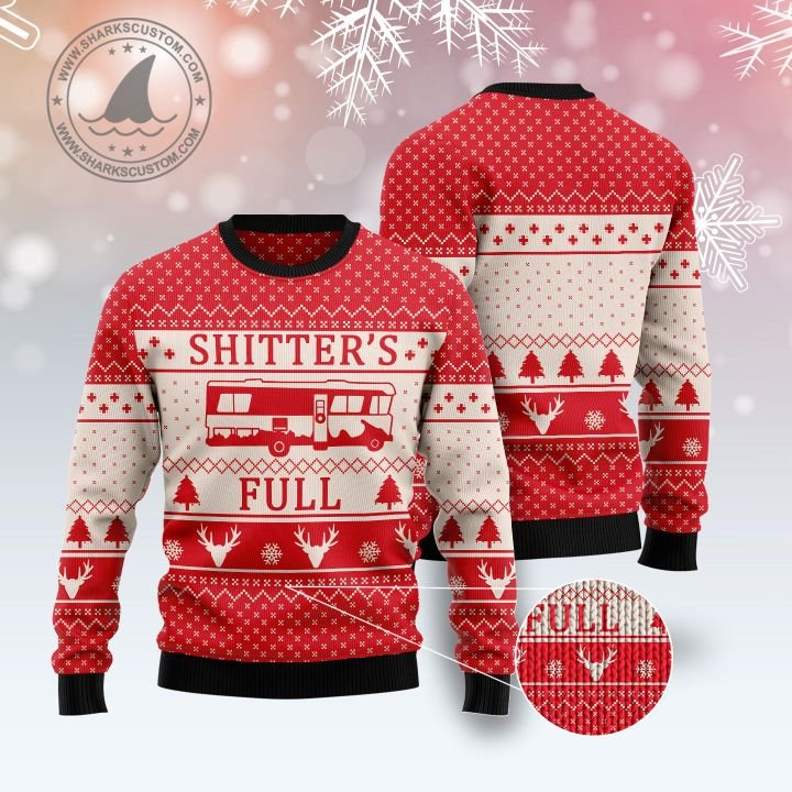 shitters full all over printed ugly christmas sweater 5